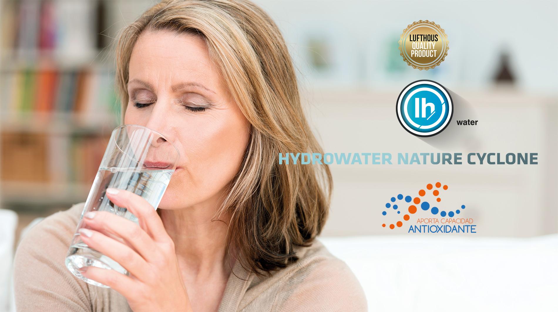 LUFTHOUS - PRODUCTOS LUFTHOUS - HYDROWATER NATURE CYCLONE - ANTIOXIDANTE - H2O - AGUA HIDROGENADA